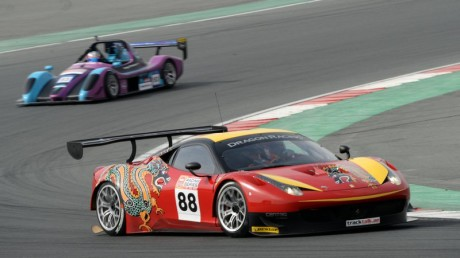 Dragon Racing Ferrari 458 up against the Radicals in the NGK Enduro