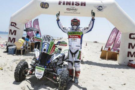 Ignacio Casele celebrates his quad win.