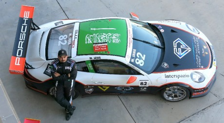 Mohammed during last years Porsche GT3 Cup support race at Bahrain F1 GP