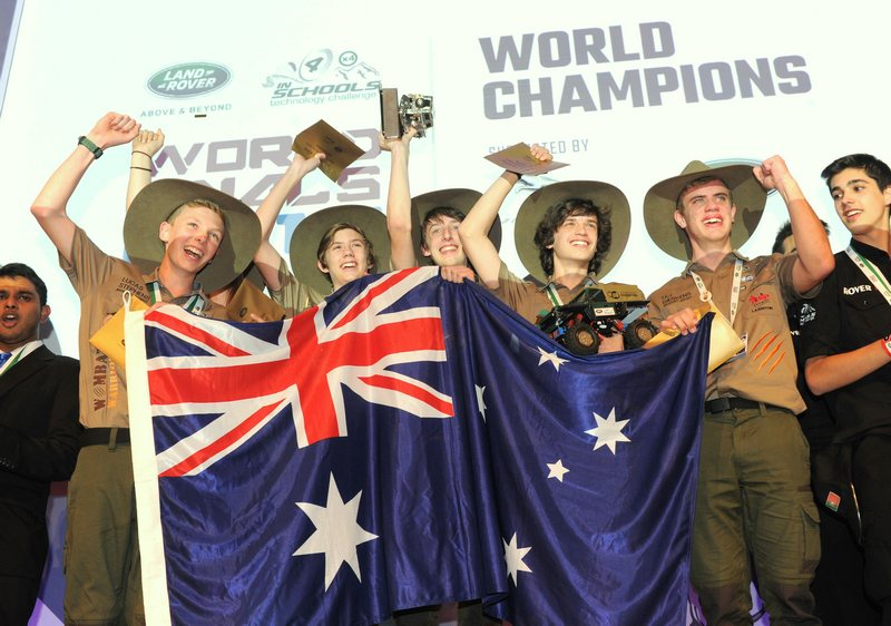 Schools: Australia's Wombat Warriors team win Land Rover 4×4 in Schools World Championship 2016