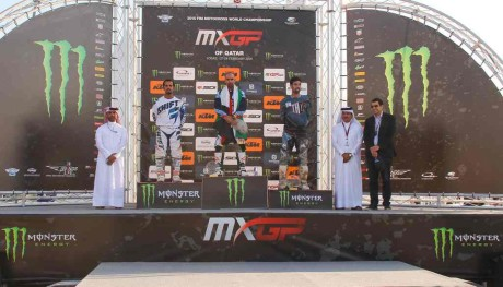 MX 1 championship podium