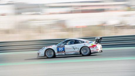 Memac Ogilvy Duel Racing Porsche 991 Cup car during the race