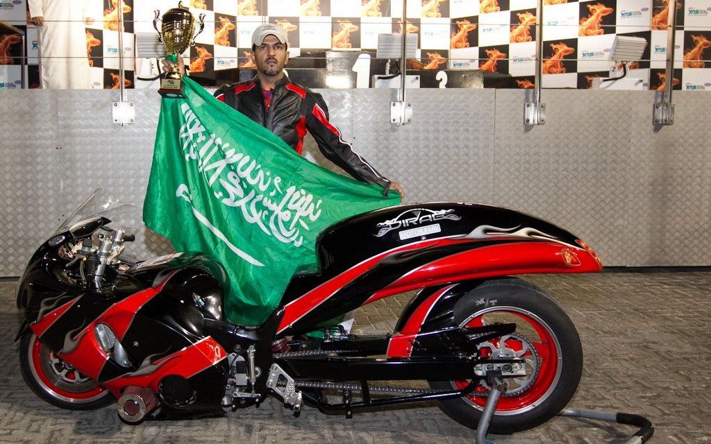 UAE: Saudi rider Mishari Al Turki sets new fastest time on Super Street bike at Yas Drag strip