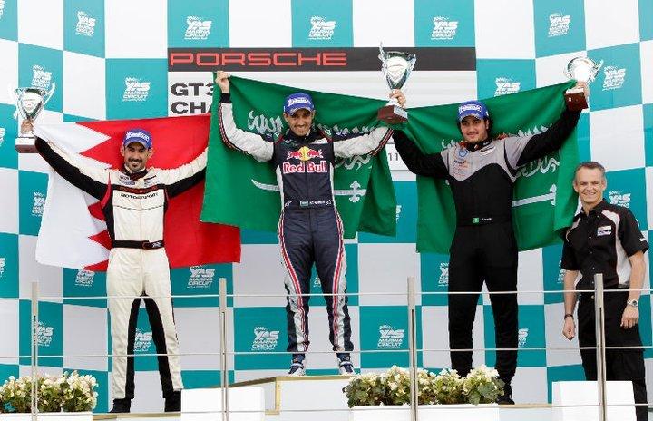 Porsche GT3: Thrilling close action at Yas Marina brings close fought wins for Al Faisal and Al Qubaisi