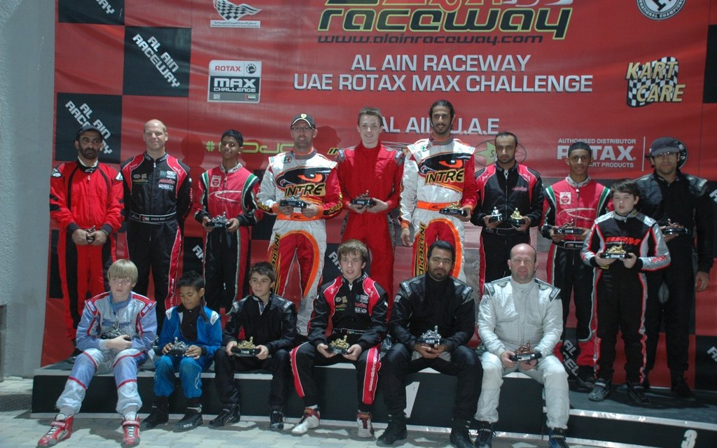 Karting: Sheikh Khalid takes series lead and Edward Jones sets a new lap record in Al Ain
