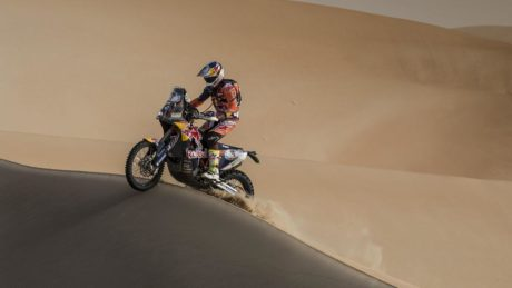 Sam Sunderland on the crest of further success at the Abu Dhabi Desert Challenge