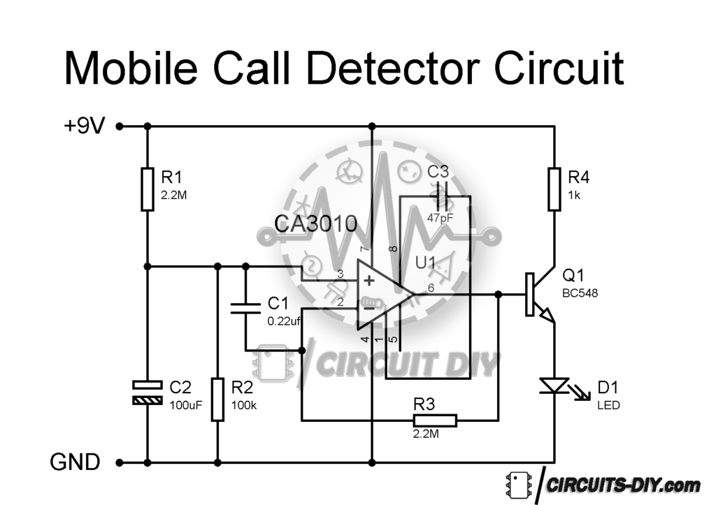 How to make a Simple Mobile Phone Call Detector Circuit