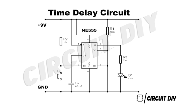 How to make Time Delay Circuit Using 555 Timer