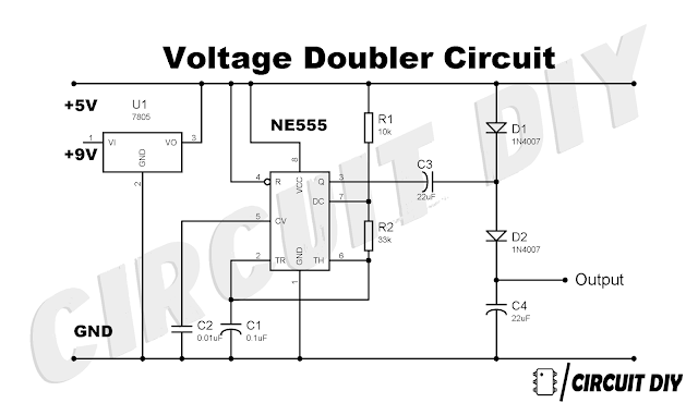 How to make Voltage Doubler Circuit using 555 timer IC
