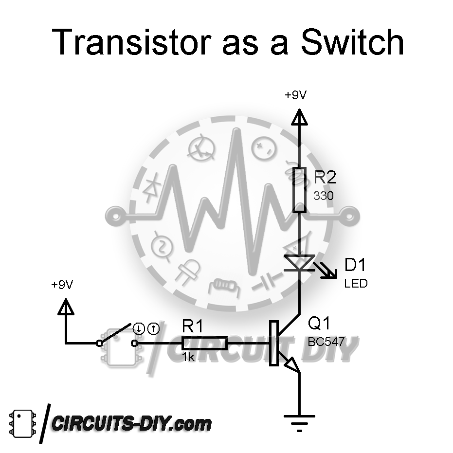 How to use a transistor BC547 as a switch — Circuits DIY