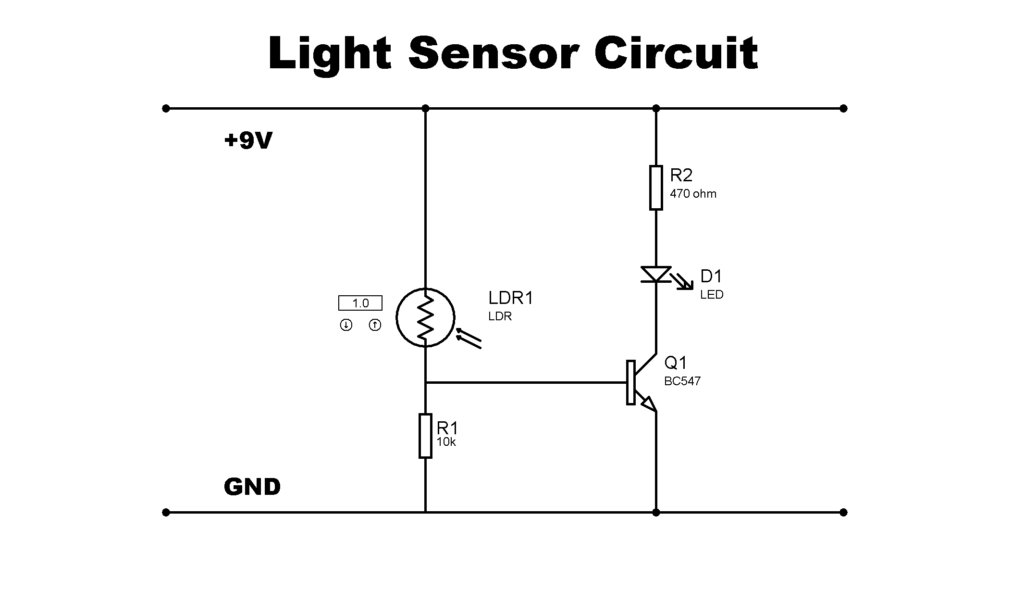 Simple Light Sensor Circuit using LDR