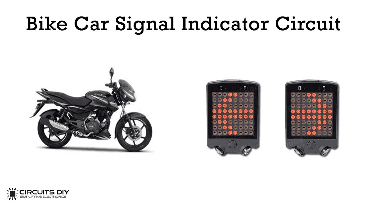 Bike/Car Signal Indicator Circuit using 555 Timer IC