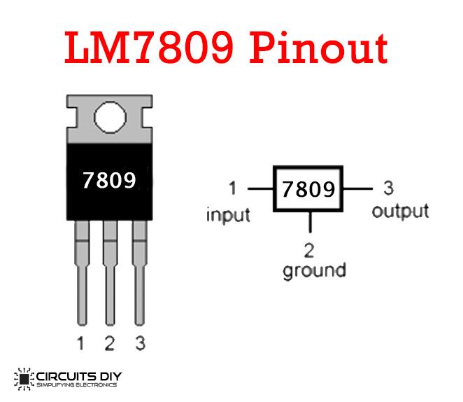 9V Power Supply Circuit Using LM7809 Voltage Regulator IC