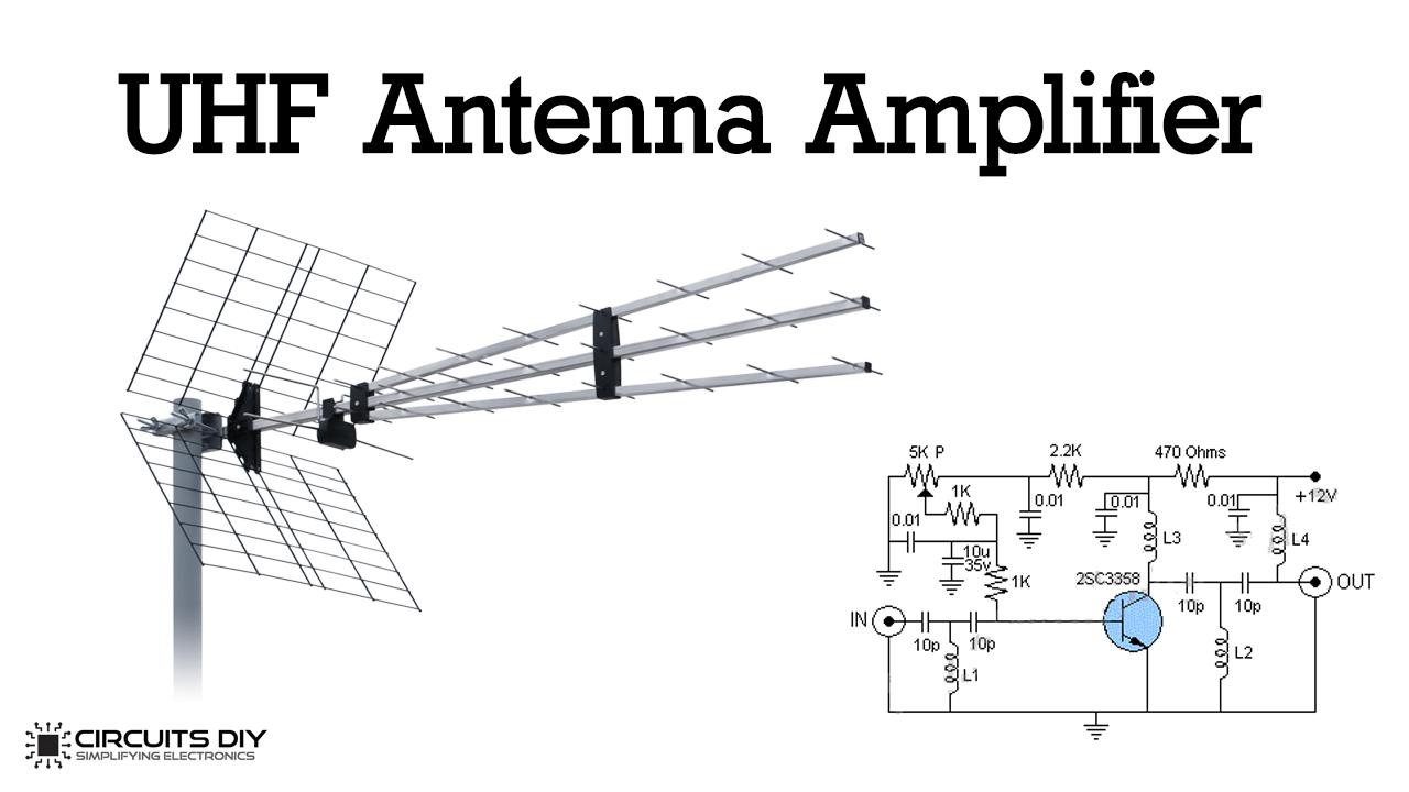 UHF Antenna Amplifier (Booster) using 2SC3358