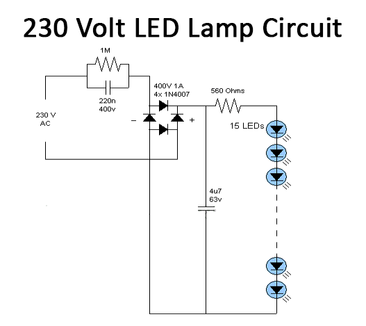230V LED Lamp Circuit