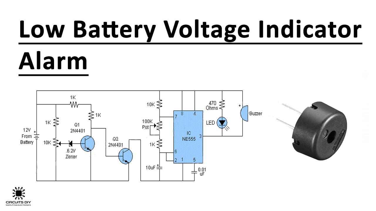Low Battery Voltage Indicator Alarm