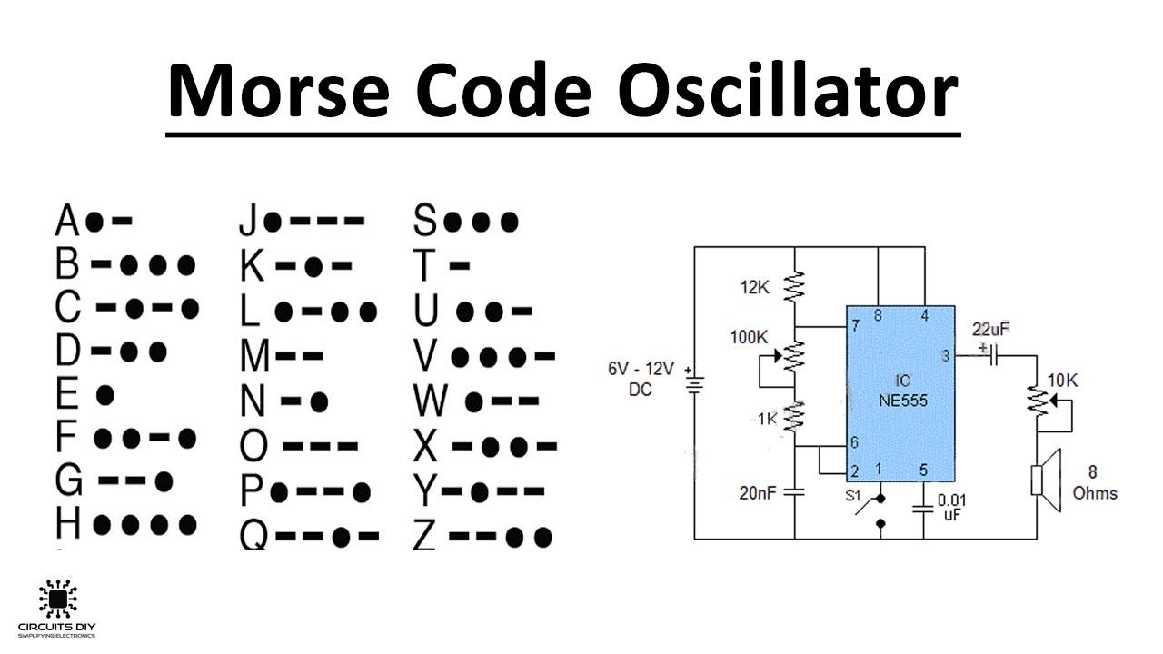 Morse Code Oscillator using NE555 Precision Timer IC