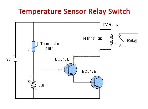 temperature sensor relay switch circuit