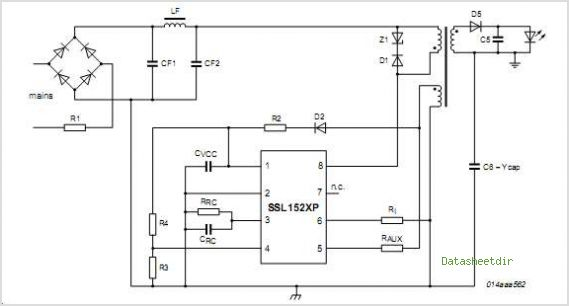 LED AC driver transformer or inductor