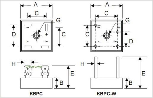 KBPC50 datasheet, Pinout ,application circuits 50A HIGH