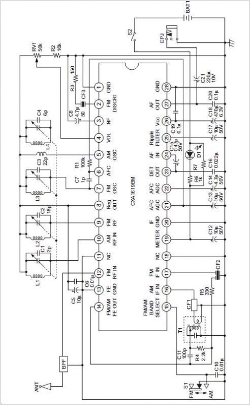 Wiring Machine: Cd1619cp Fm Radio Circuit
