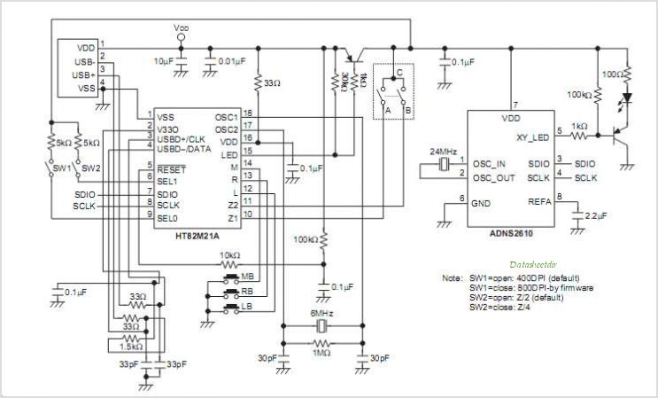 wiring diagram for usb mouse
