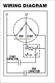Electric Potential Relay Wiring Diagram, Electric, Free