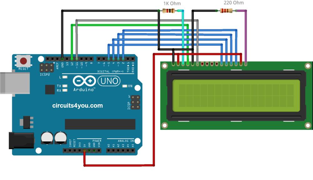 medium resolution of lcd arduino circuit