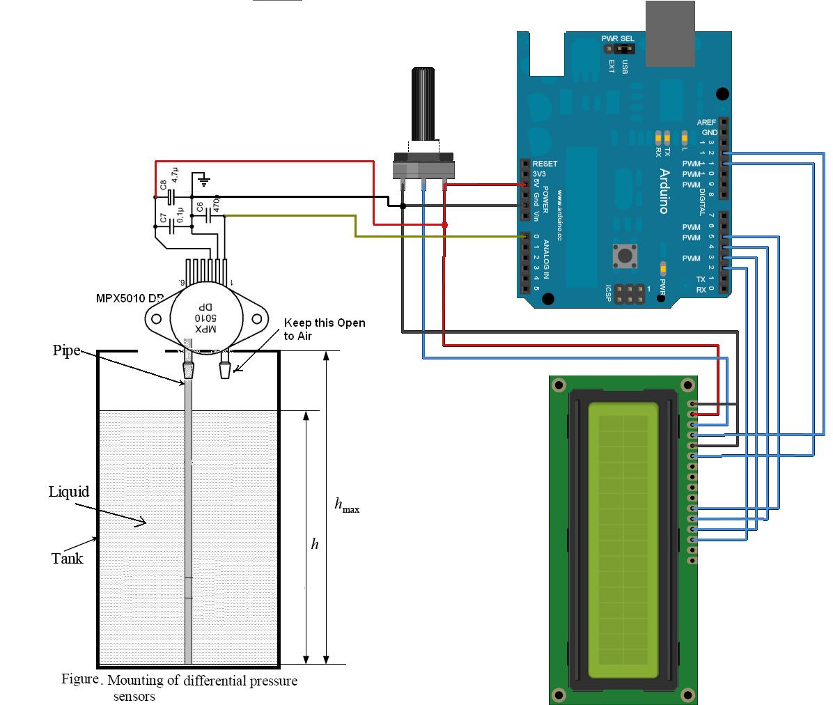 hight resolution of water level measurement using arduino circuits4you com wiring diagram as well as water depth pressure sensor circuit diagram