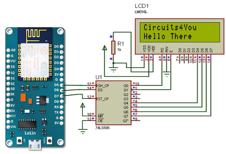 arduino lcd screen wiring diagram woofer esp8266 nodemcu 16×2 interface | circuits4you.com
