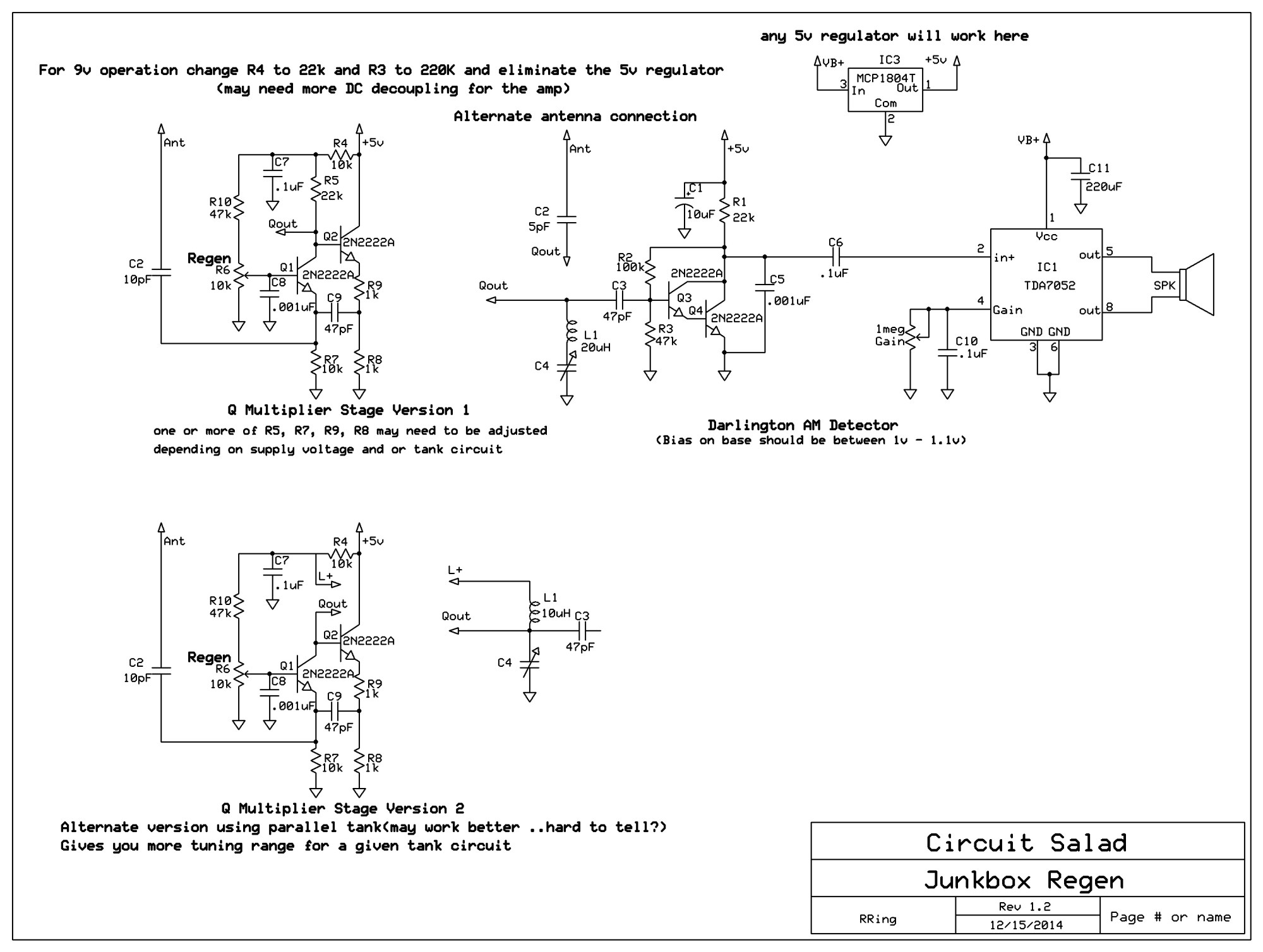 hight resolution of an unusual regenerative receiver circuit using only bipolar am regenerative receiver circuit diagram with transistor