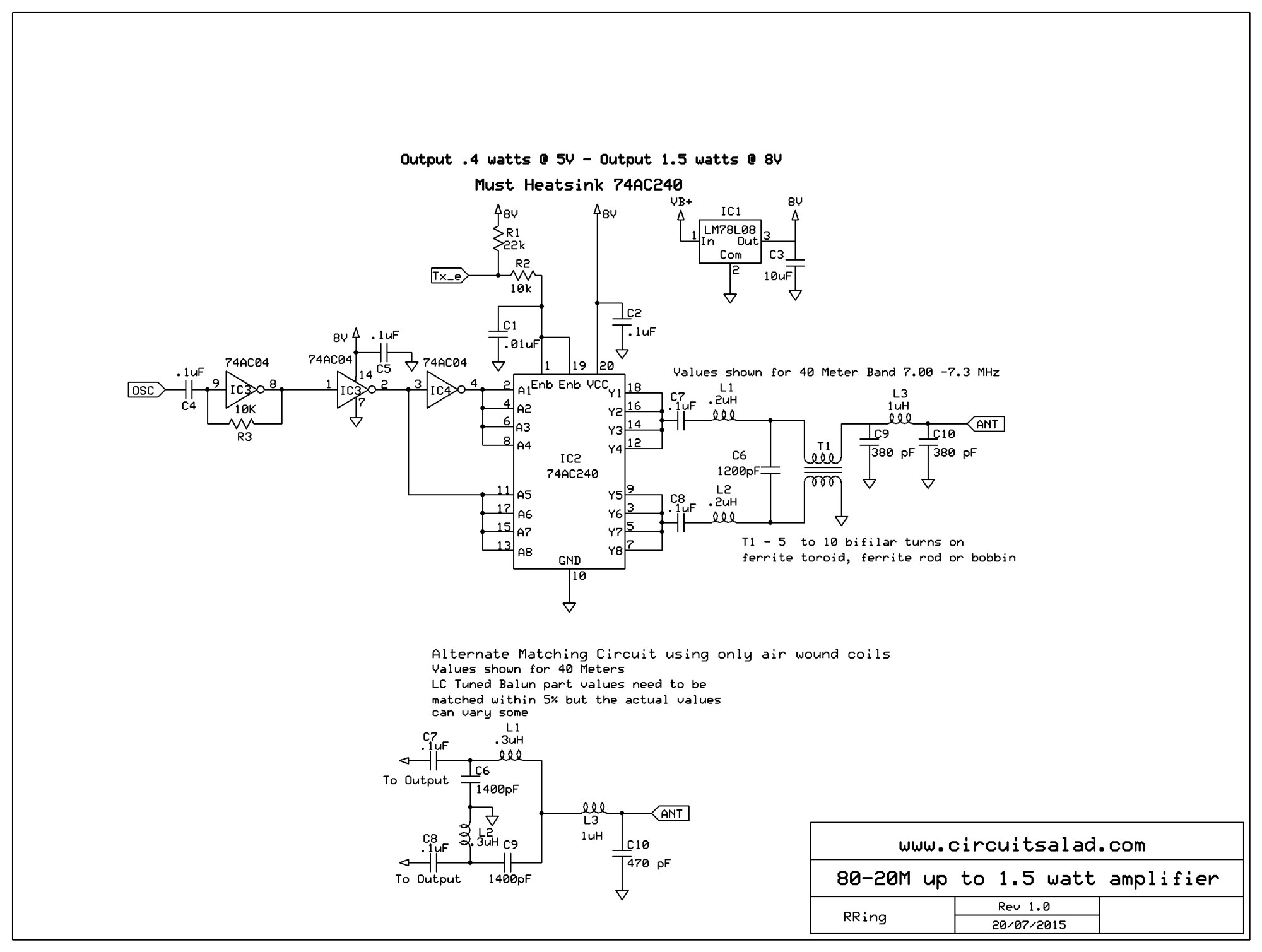 hight resolution of qrp rf amp