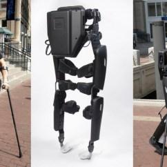 Wheelchair Clearance Purple Dining Room Chairs Rewalk Exoskeleton Lets Paralyzed Man Walk Nyc Street