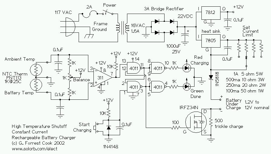 Solar Battery Charger Wiring Diagram Free Picture Temperature Controlled Nicd Charger 183 Circuitsarchive