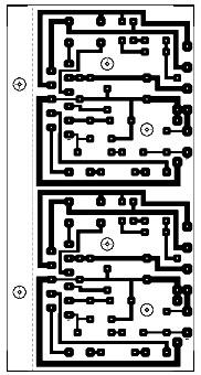 20 Watt Stereo Audio Amplifier using TDA2005 PCB Layout