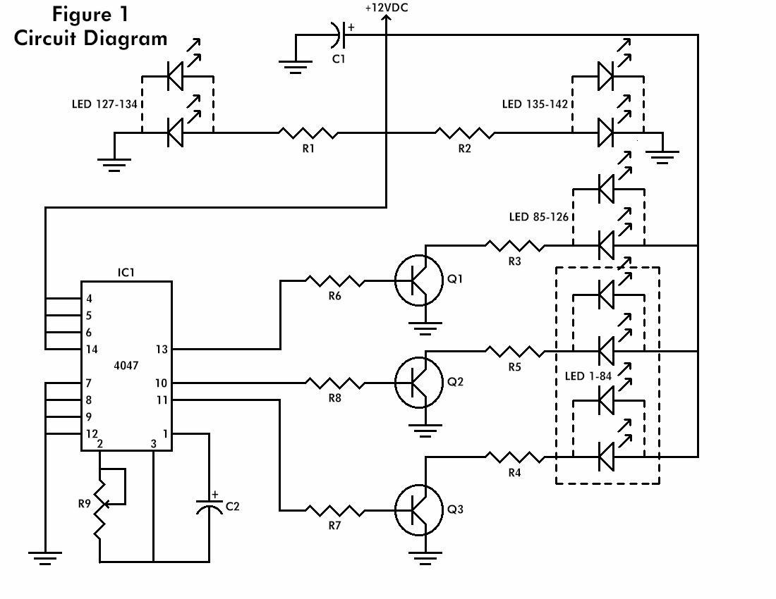 low power flashing led circuit diagram