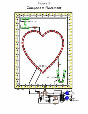 LED Flashing Heart  Circuit Schematic