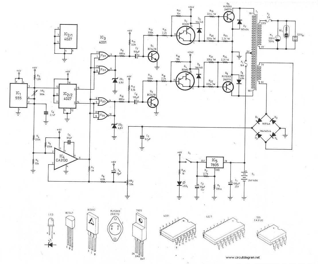 wiring diagram ac split inverter for motor starter 3 phase 300watt dc 24v to 220v circuit schematic