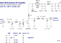 15W FM Broadcast RF Amplifier Circuit