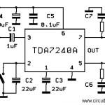 20W Bridge Amplifier using TDA7240A