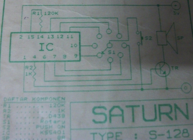 Diesel Sound Effect Generator Circuit Schematic Diagram
