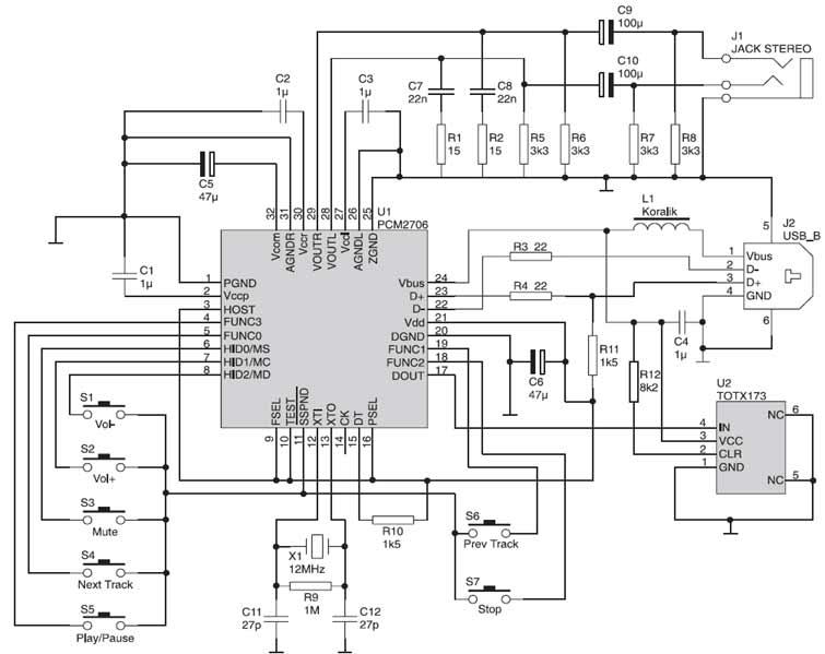 usb controller circuit