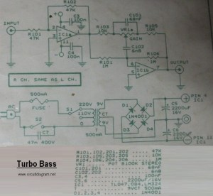 Turbo Bass  Circuit Schematic