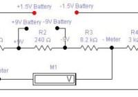 1.5v to 9v battery tester circuit diagram