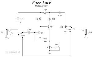 Dallas Arbiter Fuzz Face  Circuit Schematic