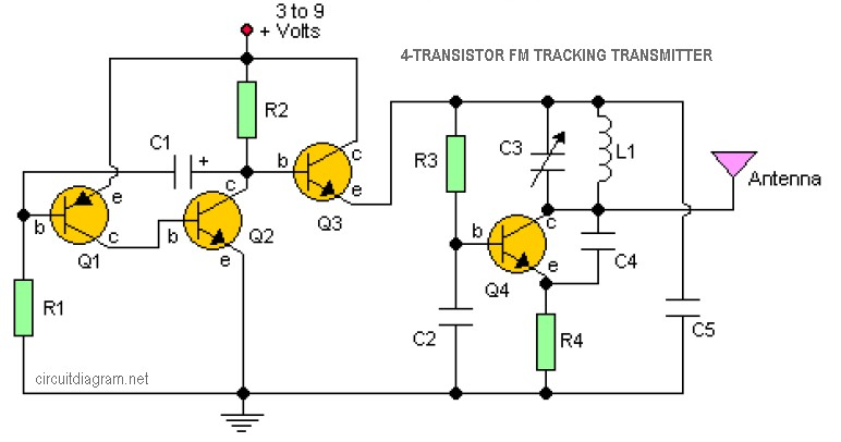 3v Fm Transmitter Circuit Amplifier Circuit Schematic Projects