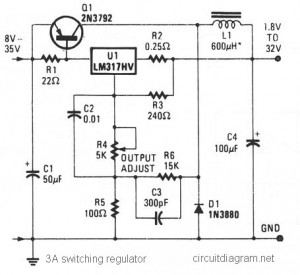 Bodine Electric Wiring Diagram 3a Switching Voltage Regulator Based Lm317hv Circuit Scheme