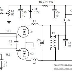 Guitar Parts Diagram Msd Ignition 6a 6200 Wiring Mosfet Linear Amplifier 300w/50mhz - Circuit Schematic