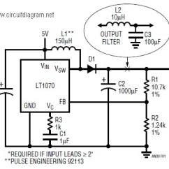Circuit Diagram Of Buck Boost Converter 2004 Jeep Liberty Wiring 5vdc To 12vdc Lt1070 - Schematic