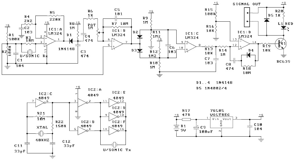 ultrasonic movement detector circuit diagram att uverse wiring motion - schematic